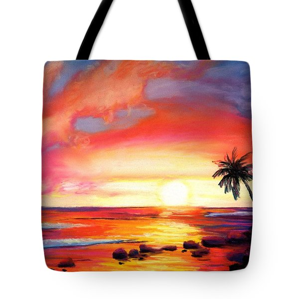Kauai West Side Sunset Tote Bag by Marionette Taboniar