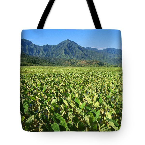 Kauai, Wet Taro Farm Tote Bag by Himani - Printscapes