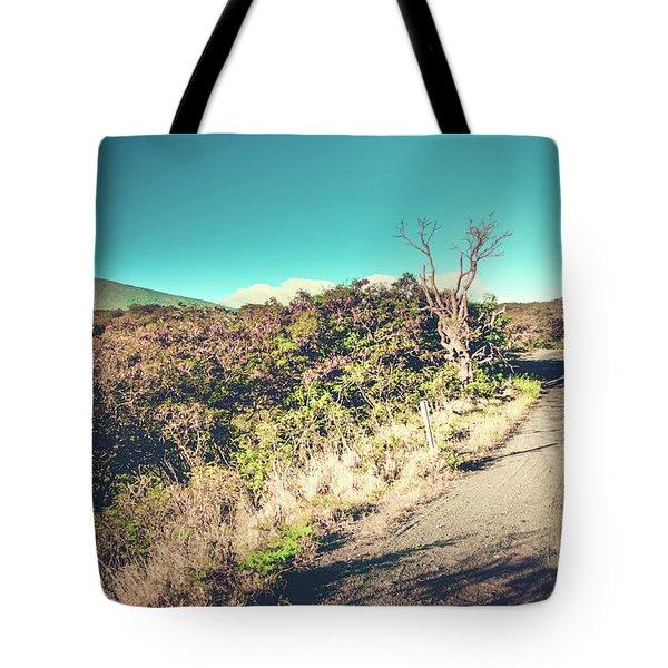 Kaupo Other Road To Hana Sunset Piilani Highway Maui Hawaii Tote Bag by Sharon Mau