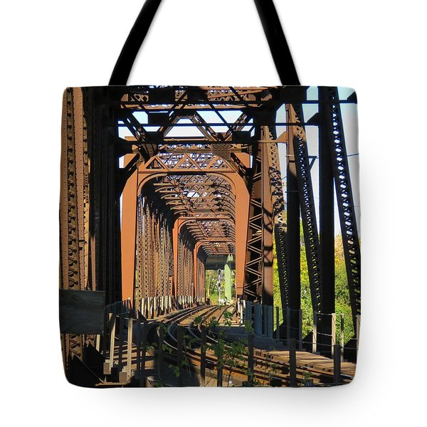 Kaw Point Railroad Bridge Tote Bag