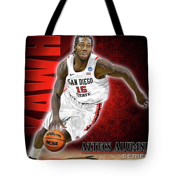 Tote Bag featuring the photograph Kawhi by Don Olea