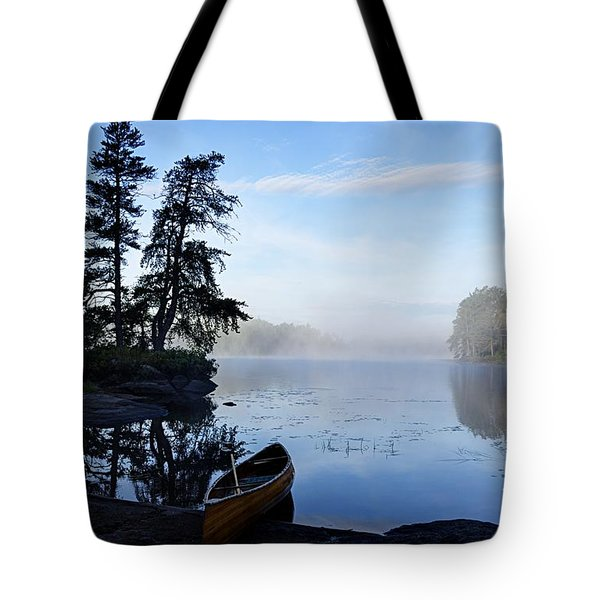 Kawishiwi Morning Tote Bag by Larry Ricker