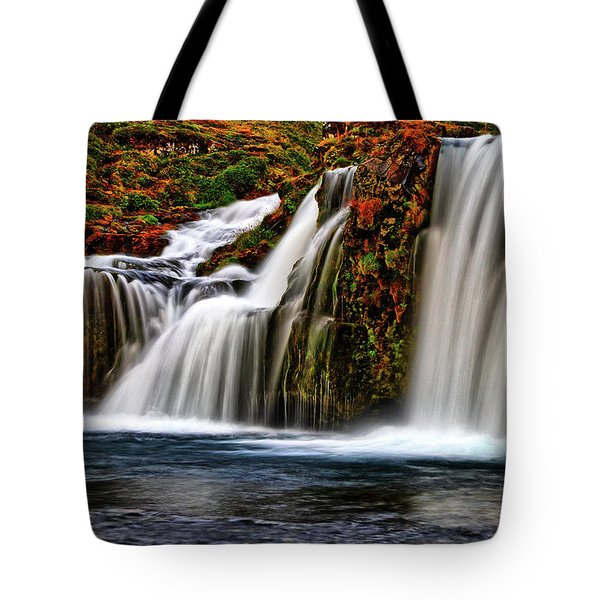 Tote Bag featuring the photograph Kay Falls by Scott Mahon