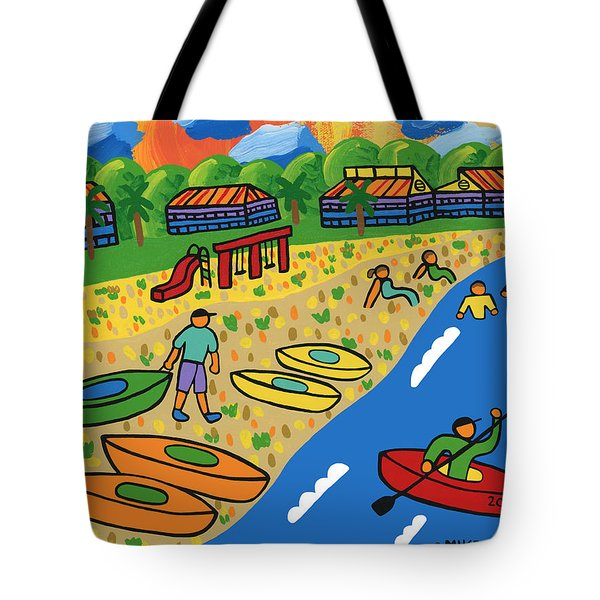 Kayak Beach - Cedar Key Tote Bag