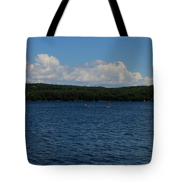 Kayak On The  Lake Tote Bag