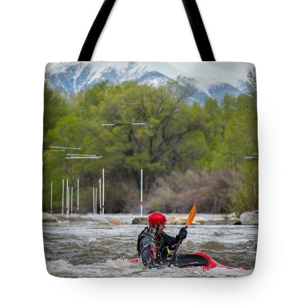 Kayaker On The Arkansas Tote Bag