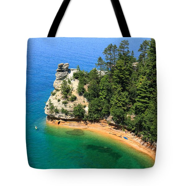 Kayaking At Miners Castle Tote Bag