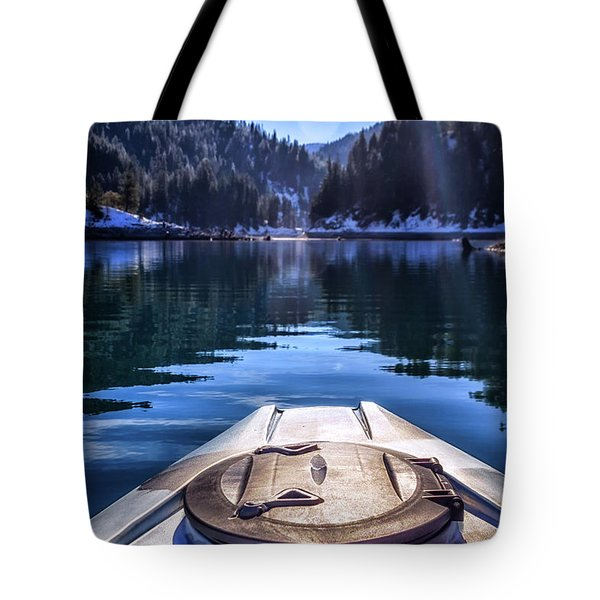 Kayaking In Mccloud Tote Bag