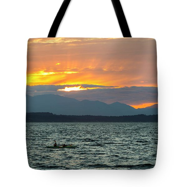 Kayaking In The Puget Sound Tote Bag