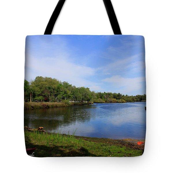 Kayaking The Cotee River Tote Bag