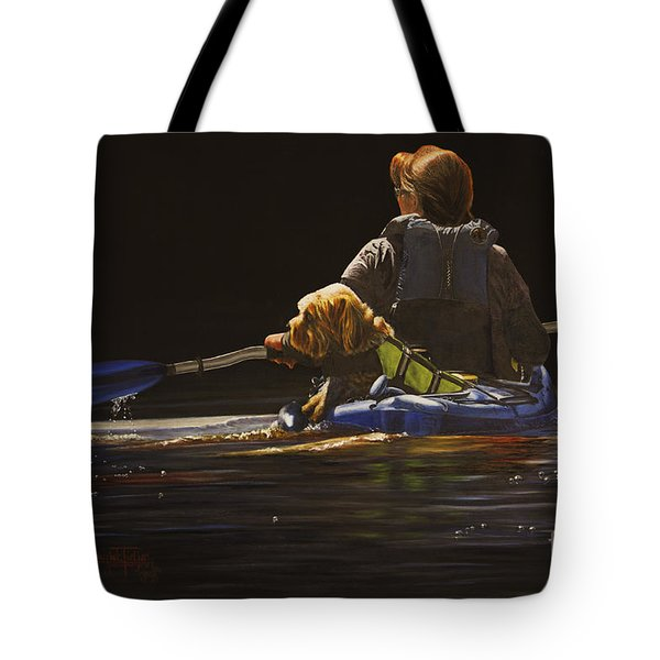 Kayaking With Your Best Friend Tote Bag