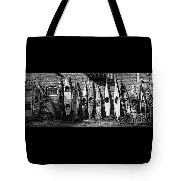 Kayaks And Canoes Tote Bag