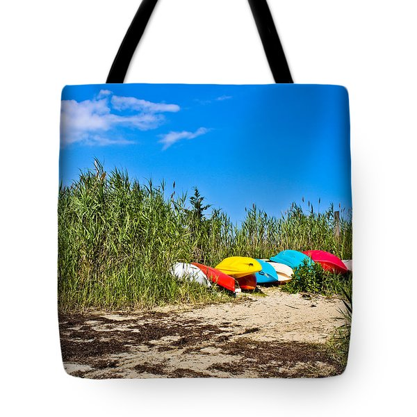 Kayaks At Barnegat Tote Bag
