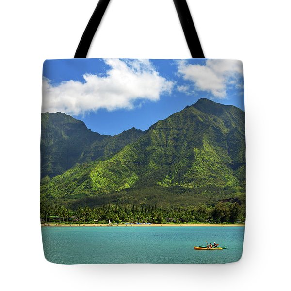 Kayaks In Hanalei Bay Tote Bag