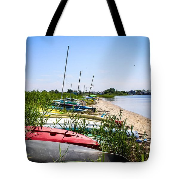 Kayaks On The Beach Tote Bag