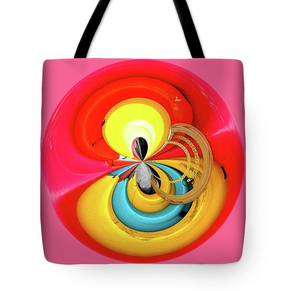Tote Bag featuring the photograph Kayaks Orb by Bill Barber