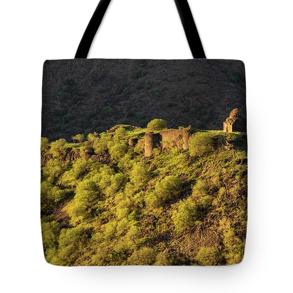 Kayan Fortress At Late Evening, Armenia Tote Bag