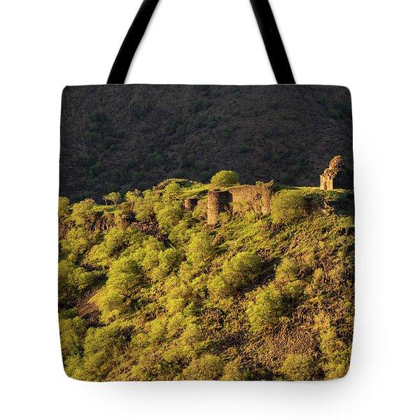 Kayan Fortress At Late Evening, Armenia Tote Bag