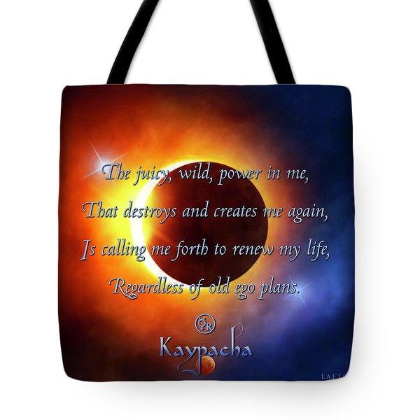 Kaypacha August 31, 2016 Tote Bag
