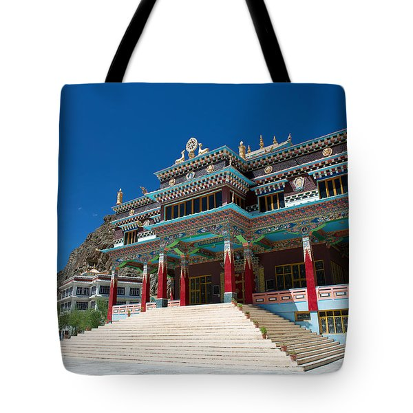 Tote Bag featuring the photograph Kaza Monastery by Yew Kwang
