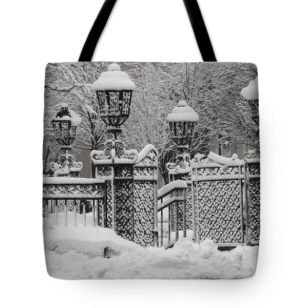 Kc Plaza Is Art In The Snow Tote Bag