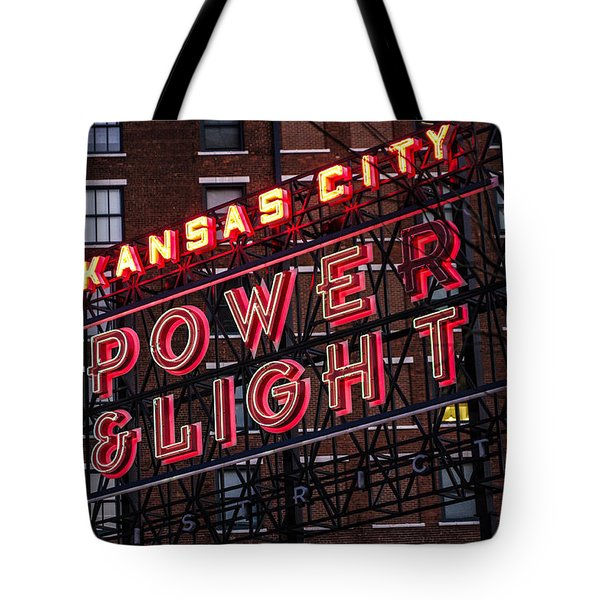 Tote Bag featuring the photograph Kc Power And Light by Jim Mathis