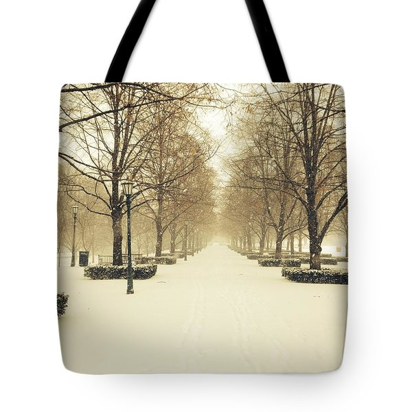 Kc Snow With Parisian Flare Tote Bag