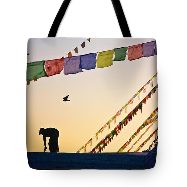 Tote Bag featuring the photograph Kdu_nepal_d113 by Craig Lovell