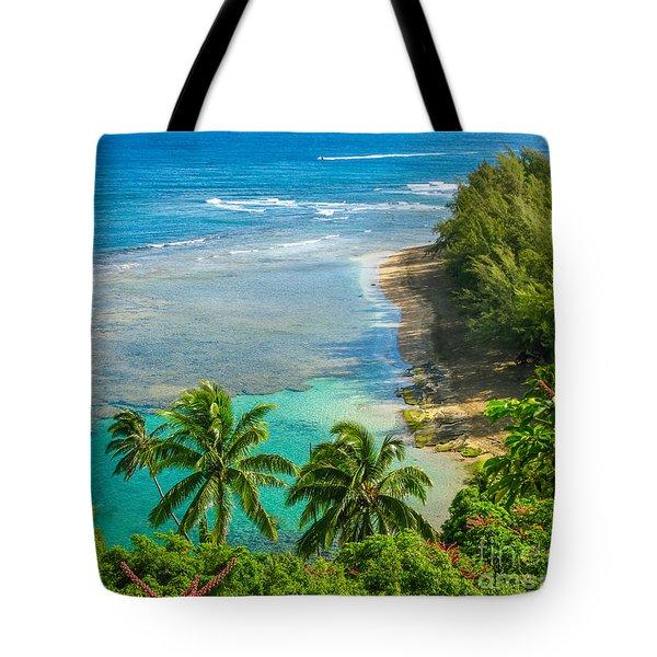 Kee Beach Kauai Tote Bag
