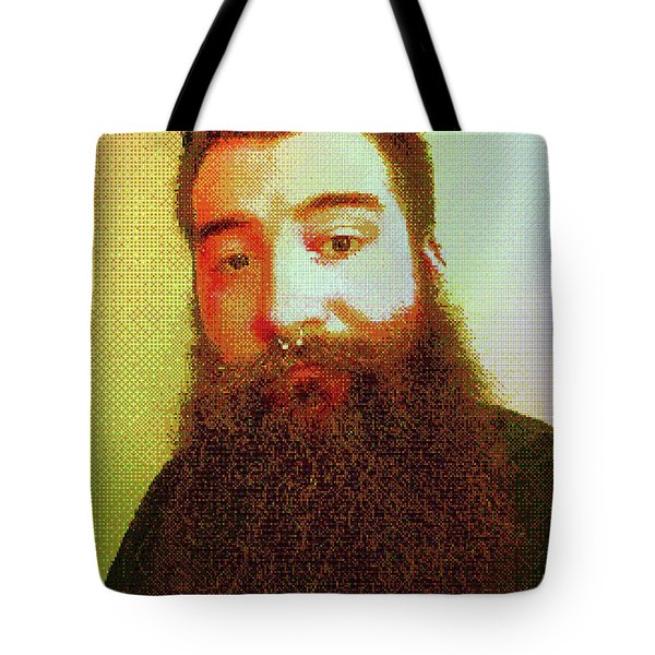 Tote Bag featuring the digital art Keefer Mosaic by Shawn Dall