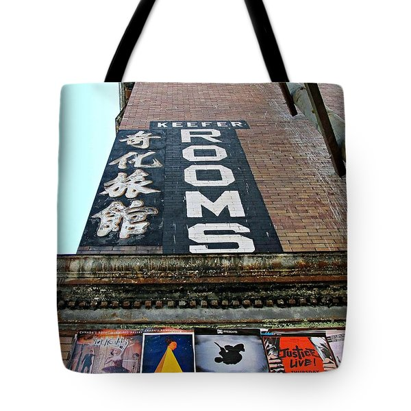 Keefer Rooms Tote Bag
