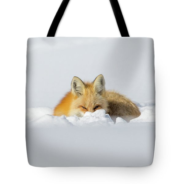 Snow Hide Tote Bag