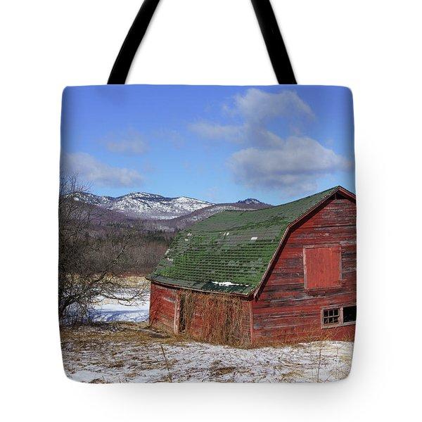 Tote Bag featuring the photograph Keene Barn by Brad Wenskoski