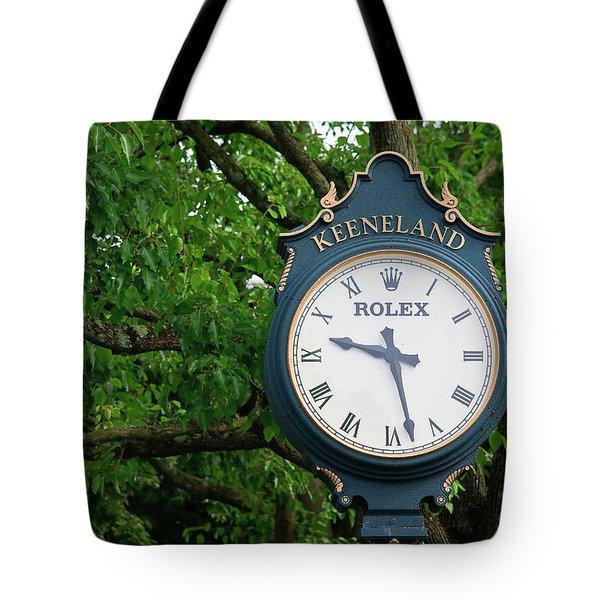 Keeneland Clock Tote Bag
