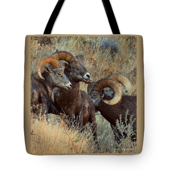 Keep An Eye On Him... Tote Bag by Steve Warnstaff