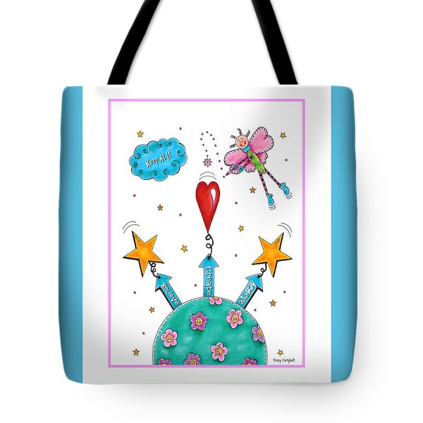 Keep At It Tote Bag by Tracy Campbell