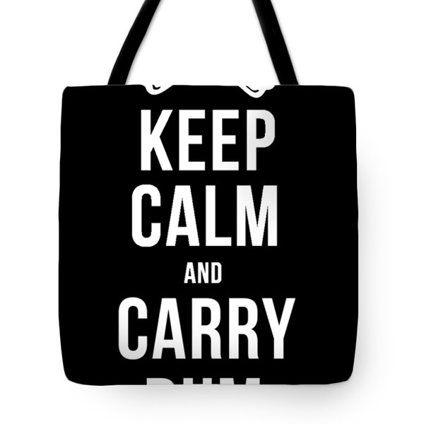 Keep Calm And Carry Rum Pirate Tee Tote Bag
