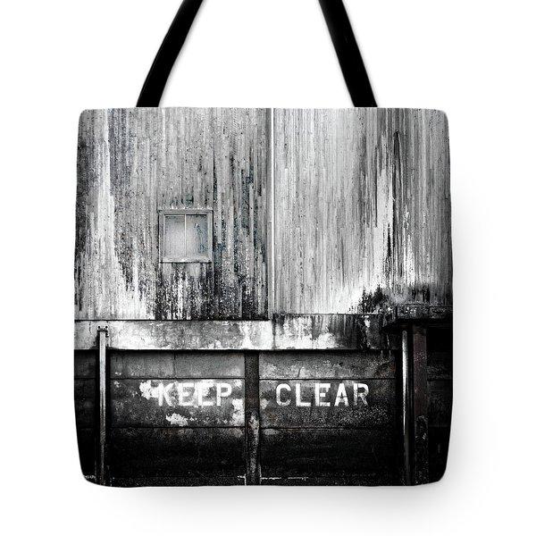 Keep Clear Industrial Art Tote Bag