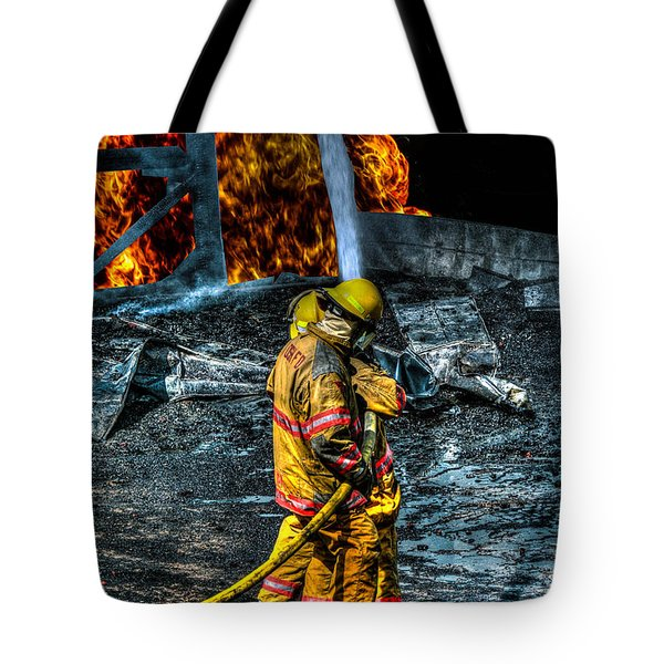 Keep Fire In Your Life No 8 Tote Bag by Tommy Anderson