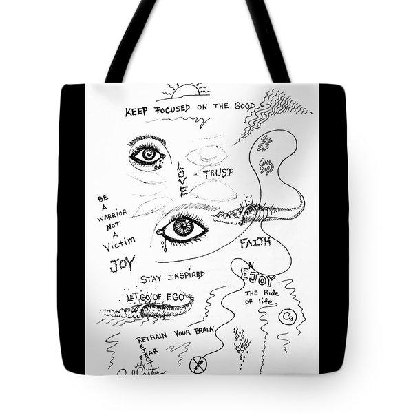 Keep Focused  Tote Bag