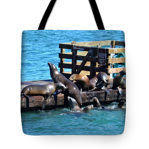 Keep Off The Dock - Sea Lions Can't Read Tote Bag
