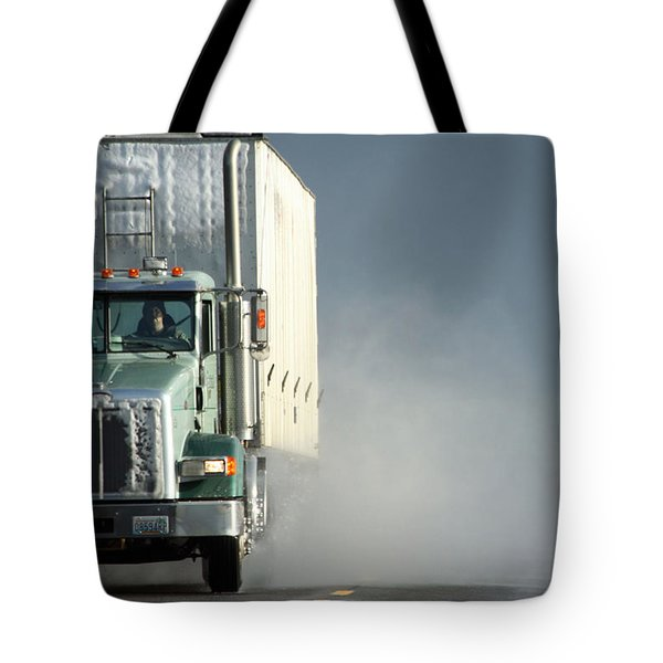 Tote Bag featuring the photograph Keep On Truckin'... by Holly Ethan