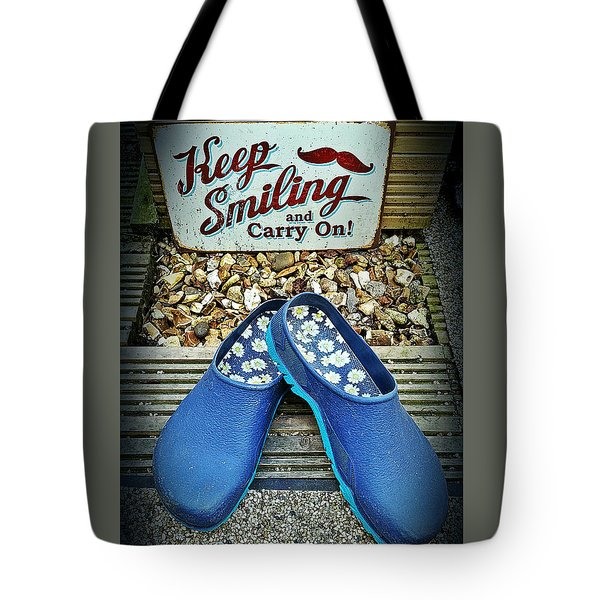 Keep Smiling And Carry On Tote Bag