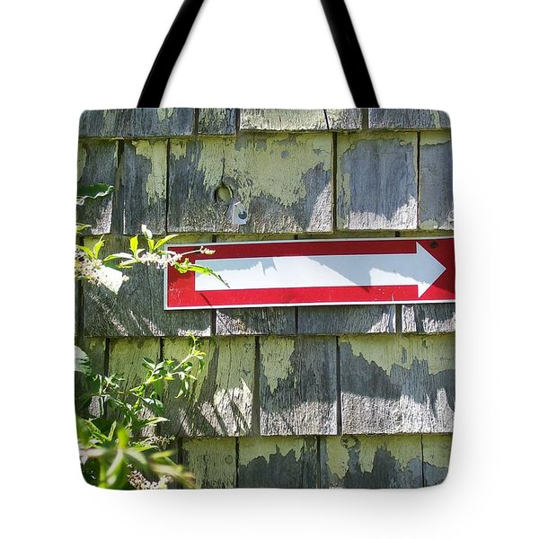 Tote Bag featuring the digital art Keep To The Right by Barbara S Nickerson