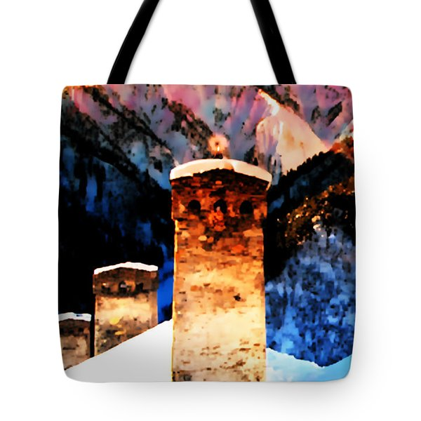 Tote Bag featuring the photograph Keeper Of The Light Adishi Svaneti by Anastasia Savage Ealy