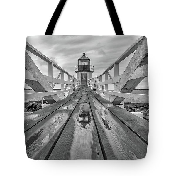 Tote Bag featuring the photograph Keeper's Walkway At Marshall Point by Rick Berk