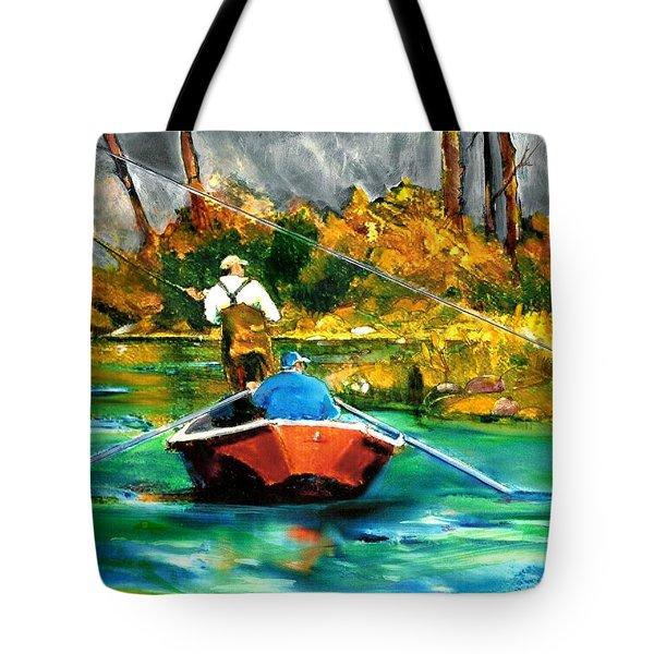 Keeping A Tight Line Tote Bag by Joseph Barani