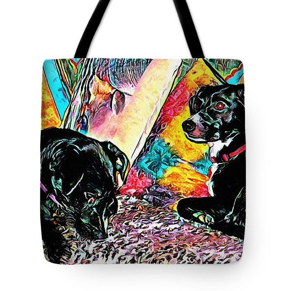 Keeping Themselves Occupied Tote Bag