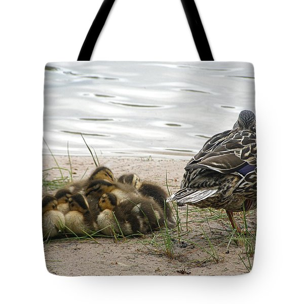 Tote Bag featuring the photograph Keeping Watch by Angie Rea