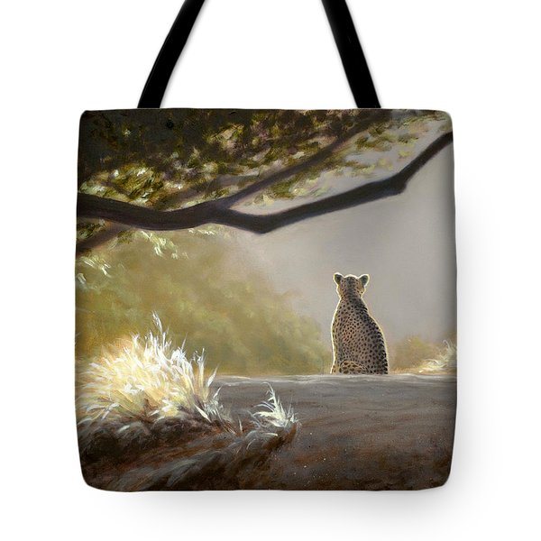 Keeping Watch - Cheetah Tote Bag